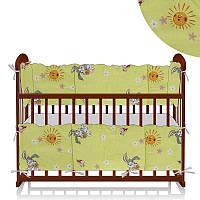 Защита в кроватку Зайчик, солнышко Беби-Текс зеленый - 221019