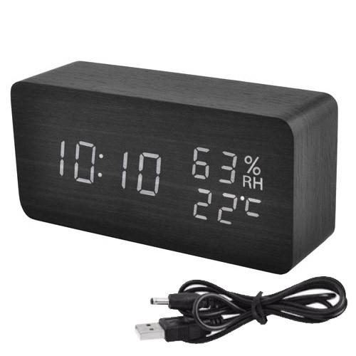 Часы сетевые 862S-6, USB черные