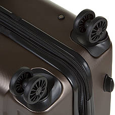 Чемодан маленький OULANDO 4 колеса пластик ABS   36х54х21 коричневый  ксЛ722-20кор, фото 3
