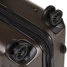 Чемодан ОULANDO средний с расширением  пластик ABS 4 колеса 43х68х26(+3) коричневый  ксЛ722-24кор, фото 3