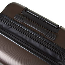 Чемодан ОULANDO средний с расширением  пластик ABS 4 колеса 43х68х26(+3) коричневый  ксЛ722-24кор, фото 2
