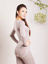 Женское термобелье, модальное кружевное белье (бежевое), фото 2