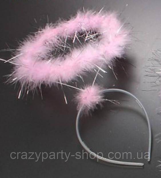Нимб ангела карнавальный   розовый