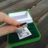 Мужской перстень 925 пробы с вставкой золота 375 пробы с ониксом, фото 5