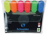 Набор текстовых маркеров Schneider JOB 6 шт. в блистере