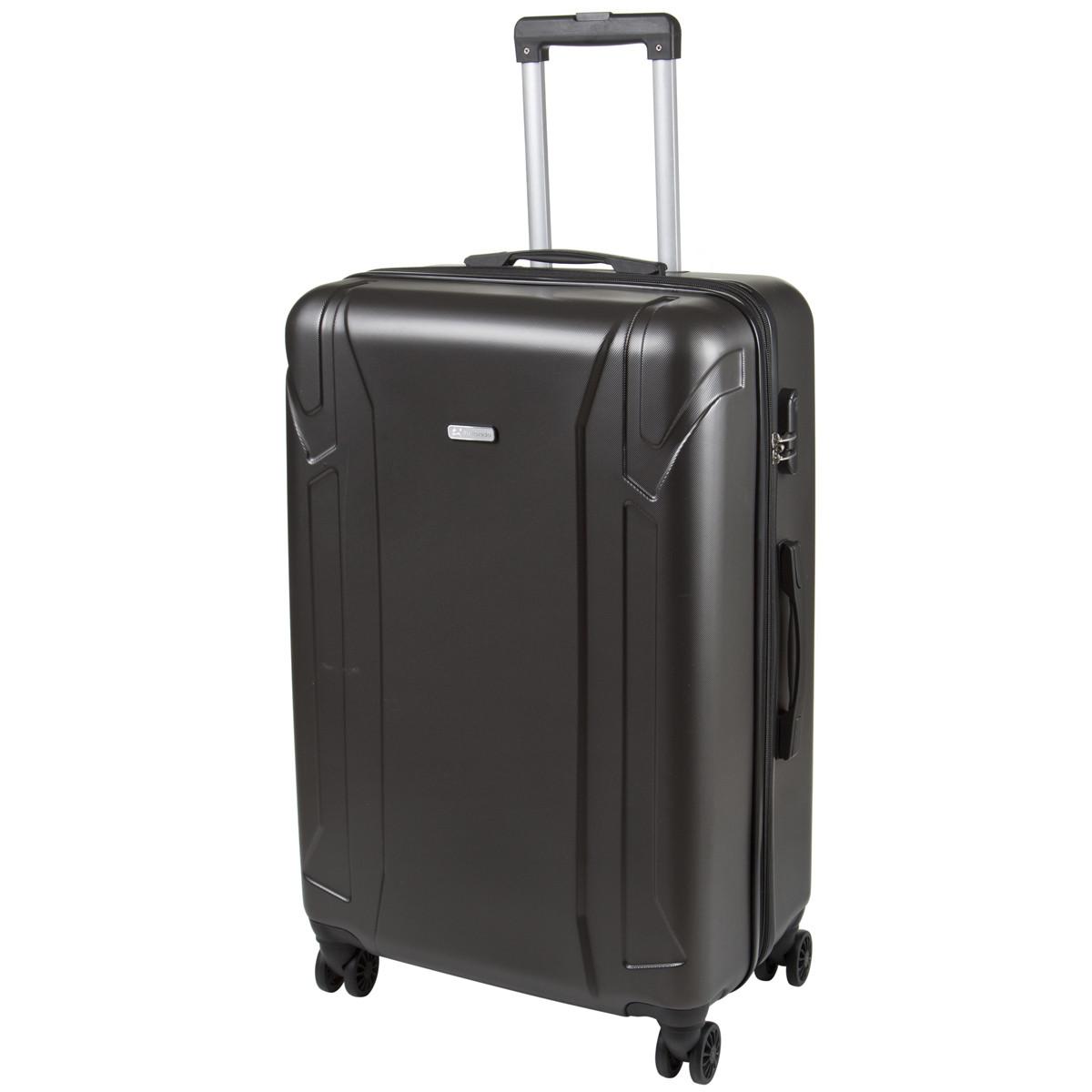 Чемодан большой с расширением пластик ABS тёмно-серый OULANDO 4 колеса 47х72х29(+3)  ксЛ722-28тсер