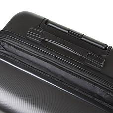 Чемодан большой с расширением пластик ABS тёмно-серый OULANDO 4 колеса 47х72х29(+3)  ксЛ722-28тсер, фото 3