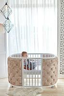 """Детская овальная кроватка трансформер 9 в 1  """" KRISTALL """""""