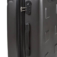 Чемодан большой с расширением пластик ABS тёмно-серый OULANDO 4 колеса 47х72х29(+3)  ксЛ722-28тсер, фото 2