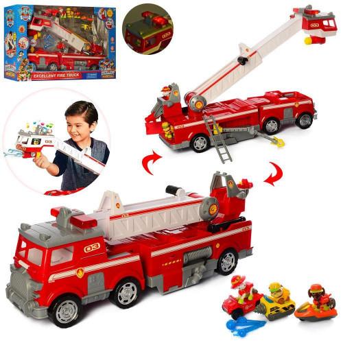 """Набор с транспортом """"Щенячий патруль"""", пожарная машина, звук, свет, транспорт, фигурки"""