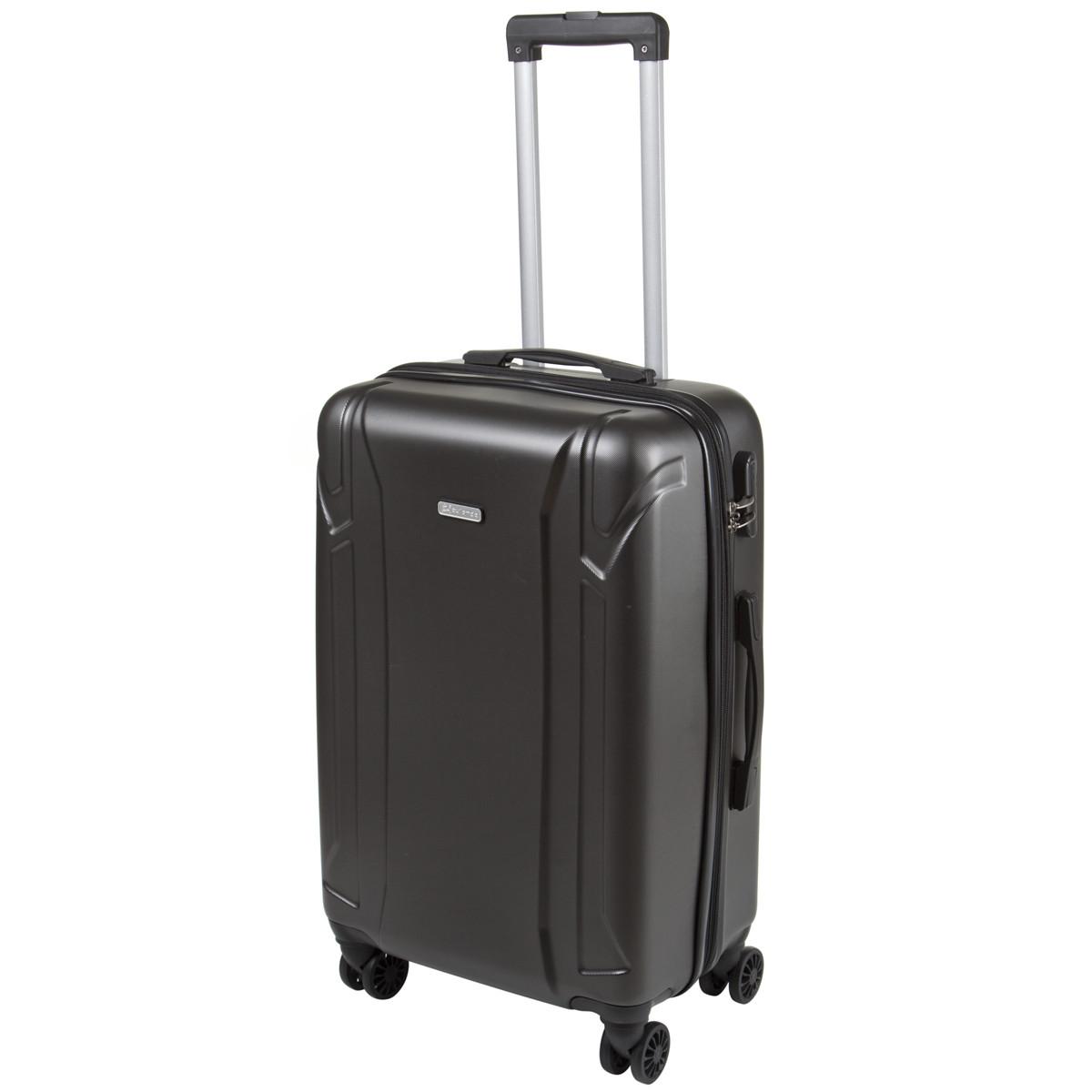 Чемодан с расширением средний ОULANDO пластик ABS 4 колеса 43х68х26(+3) тёмно-серый  ксЛ722-24тсер