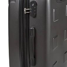 Чемодан с расширением средний ОULANDO пластик ABS 4 колеса 43х68х26(+3) тёмно-серый  ксЛ722-24тсер, фото 2