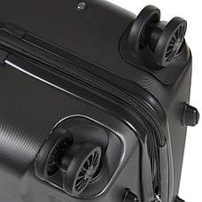 Чемодан с расширением средний ОULANDO пластик ABS 4 колеса 43х68х26(+3) тёмно-серый  ксЛ722-24тсер, фото 3