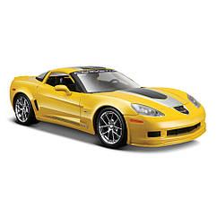 Коллекционная машинка 2009 Chevrolet Corvette Z06 GT1 жёлтый 19 см. Оригинал Maisto 31203