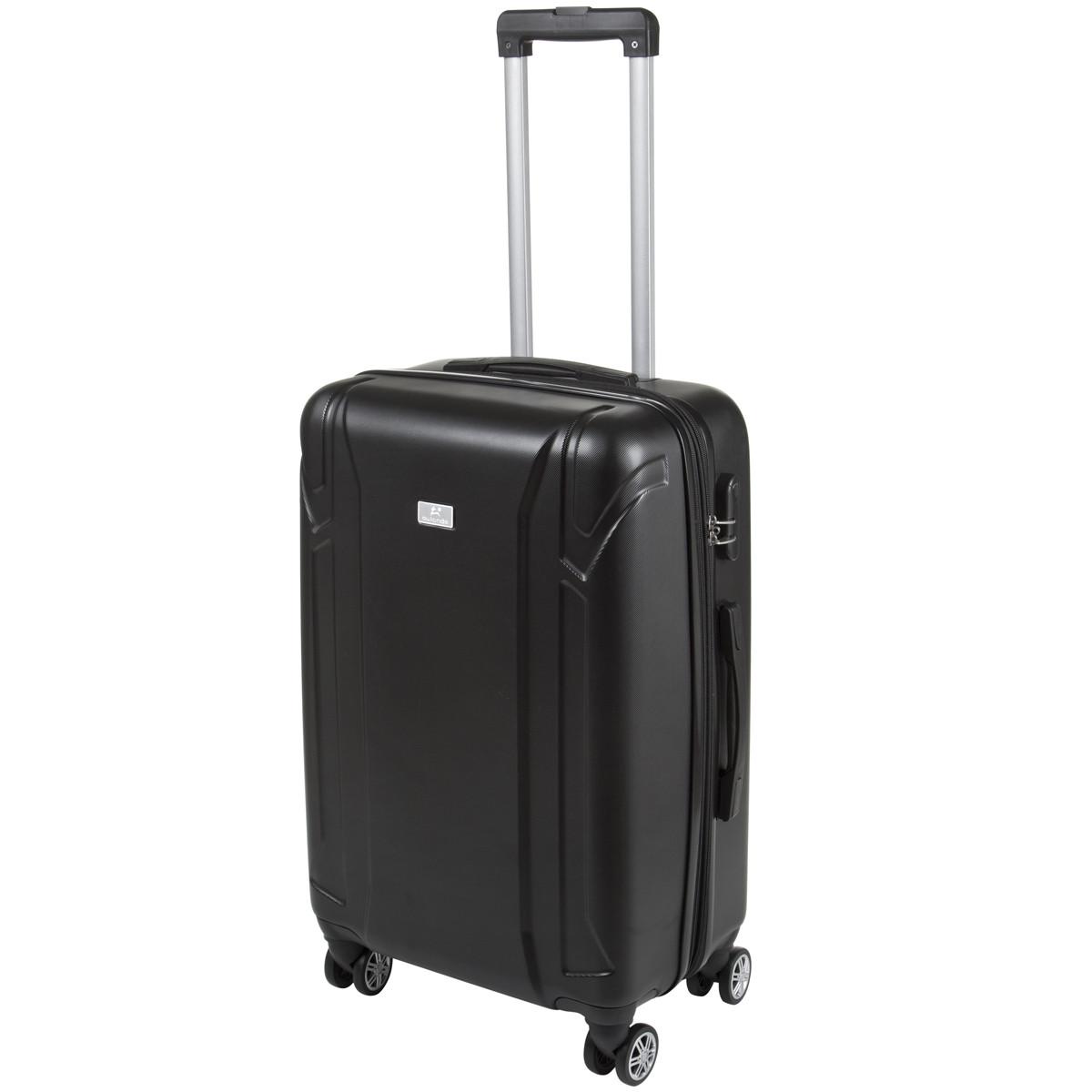 Валізу з розширенням середній 4 колеса ОULANDO пластик ABS 43х68х26(+3) чорний ксЛ722-24г