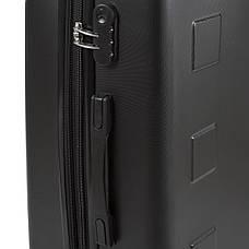 Чемодан с расширением средний 4 колеса ОULANDO пластик ABS  43х68х26(+3) чёрный  ксЛ722-24ч, фото 3