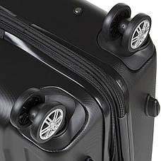 Чемодан с расширением средний 4 колеса ОULANDO пластик ABS  43х68х26(+3) чёрный  ксЛ722-24ч, фото 2