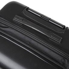 Валізу з розширенням середній 4 колеса ОULANDO пластик ABS 43х68х26(+3) чорний ксЛ722-24г, фото 3