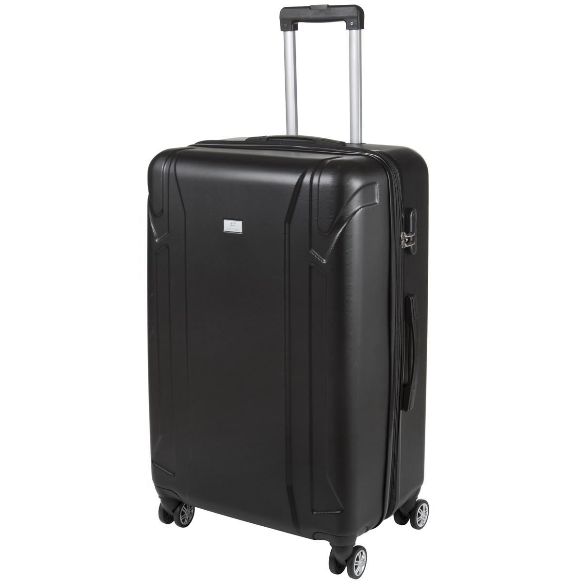 Валіза великий чорний з розширенням пластик ABS OULANDO 4 колеса 47х72х29(+3) ксЛ722-28ч