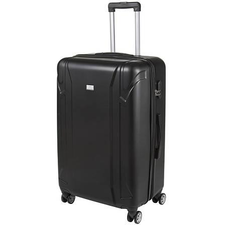 Валіза великий чорний з розширенням пластик ABS OULANDO 4 колеса 47х72х29(+3) ксЛ722-28ч, фото 2