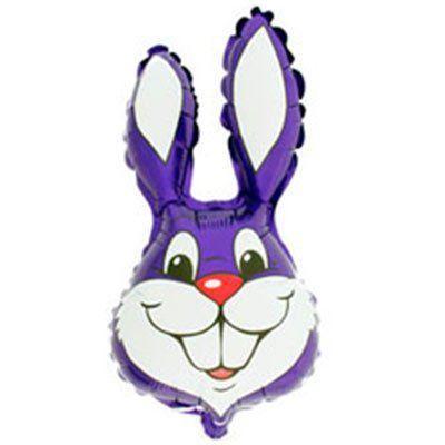 Фольговані кулі великі фігури / 8 кролик фіолетовий (fm)