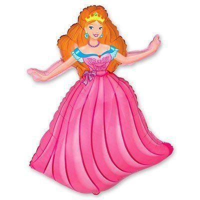 Фольгированный Шар Принцесса Flexmetal 99х69 см