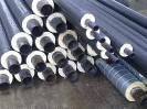 Теплоизолированные стальные трубы 108/200 мм в ПЕ оболочке
