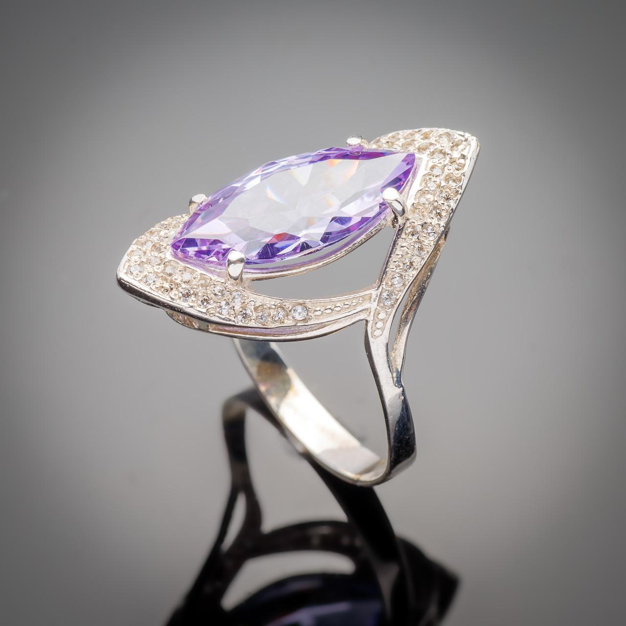 Серебряное кольцо Слеза