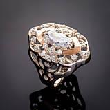 Серебряное кольцо с золотыми вставками Роксолана, фото 3