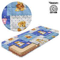 Матрас кокос-поролон-гречка-хлопок 1 Беби-Текс-Сладкий сон голубой SKL11-221190