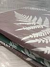 Комплект постельного белья двуспальный Евро Brown Fern Сатин Фабричная Турция, фото 3