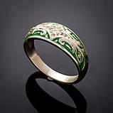 Серебряное кольцо с эмалью Мозаика, фото 2