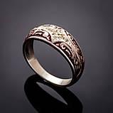 Серебряное кольцо с эмалью Мозаика, фото 3