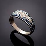 Серебряное кольцо с эмалью Мозаика, фото 4
