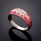 Серебряное кольцо с эмалью Мозаика, фото 5