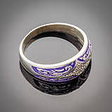 Серебряное кольцо с эмалью Мозаика, фото 6