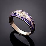 Серебряное кольцо с эмалью Мозаика, фото 7