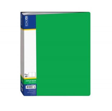 Папка А4 з 60 файлами Economix, зелена E30606-04