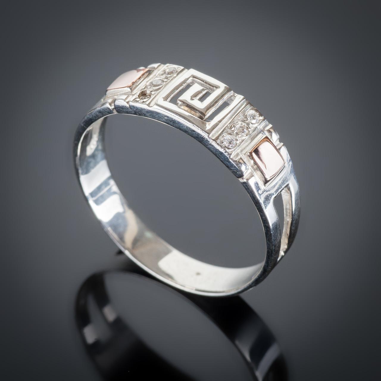 Серебряное кольцо Цезарь