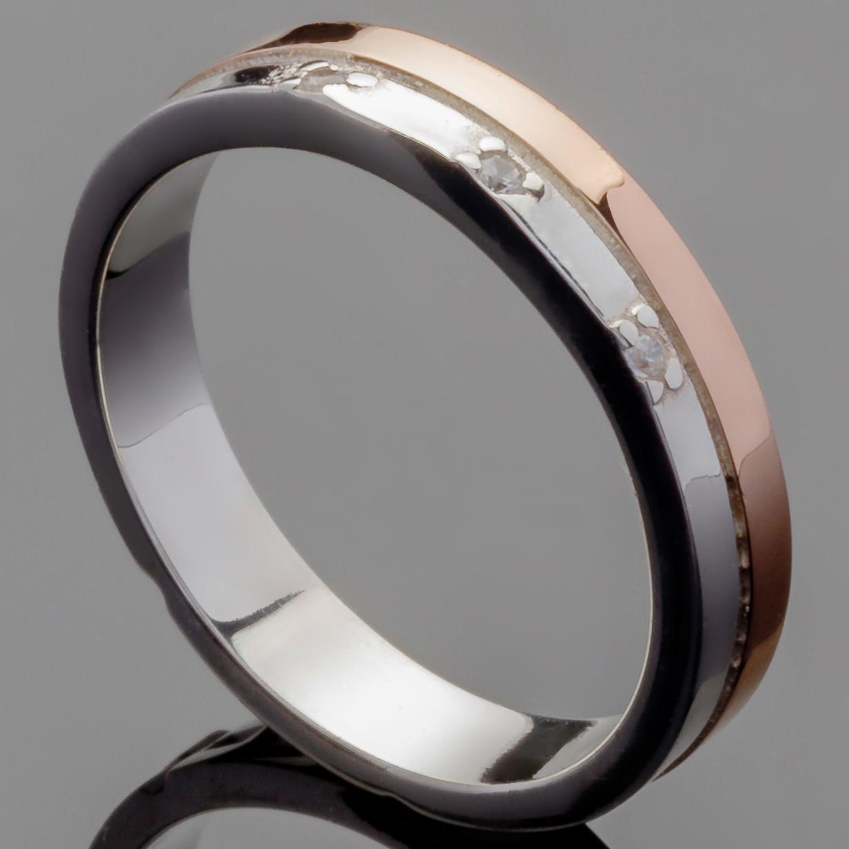 Обручальное кольцо из серебра 925 пробы арт. 3