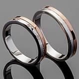 Обручальное кольцо из серебра 925 пробы арт. 3, фото 2