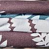 Комплект постельного белья двуспальный Евро Brown Fern Сатин Фабричная Турция - Фото