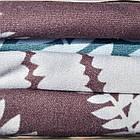 Комплект постельного белья двуспальный Евро Brown Fern Сатин Фабричная Турция, фото 2