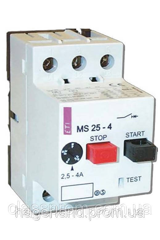 Автомат защиты двигателя ETI MS25-0,25 (4600020)