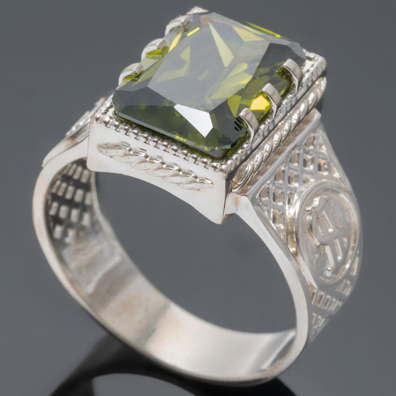 Перстень мужской из серебра 925 пробы Рафаэль