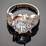 Серебряное кольцо с золотыми вставками Фиеста, фото 2