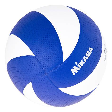 Мяч волейбольный Mikasa MVA300 PU сине/белый, фото 2