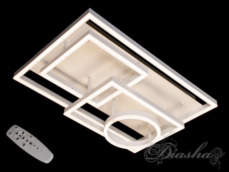 Прямоугольная светодиодная люстра MX11024/4WH dimmer