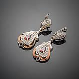 Серьги серебряные Джульетта, фото 2