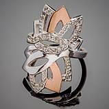Серебряное кольцо с золотыми вставками Злата, фото 2